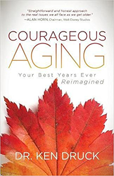 Courageous aging book cover